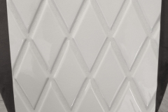 HC White Crackle II Harlequin 3x6 beveled edge