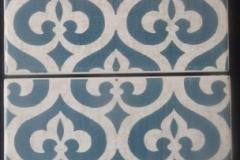 "Marais Fluer-de-Lis Bleu-6x6"""