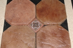 Marrakech MOROCCAN EARTH 8in OCTAGON with 3%22 dot
