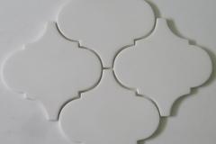 6x6 arabesque white matte