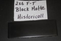 BLACK MATTE 2X6 FT HISTORICAL COLLECTION