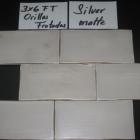 HC Silver Matte Orillas Frotadas 3x6