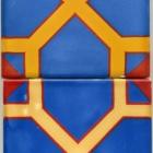 Unique 6x6 Blue Octagon 2 pc-2