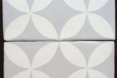 HC Silver matte : White matte 8x8 Mosaico T-7