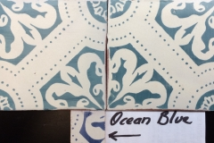 Deco Orleans Azul orillas frotadas sin mancha