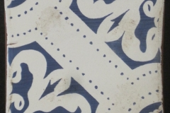 ORLEANS OCEAN BLUE MATTE MANCHADA ORILLAS FROTATDOS 6x6