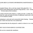 ORLEANS (RED CLAY BODY) INFORMATION, MAINTENANCE AND USE