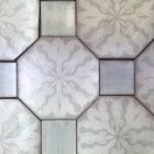 Orleans-6in-Octagon-Silver-matt-with-White-matte-base-reverse-pattern