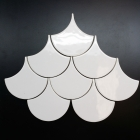 HC Scallop 4in White Gloss