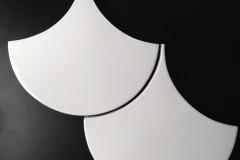 HC White Gloss Scallop 8x8in