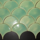 """SCALLOP 4x4 TEAL LIGHT Scallop available in 4"""" or 8"""""""