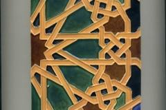 6x12 Art Tile Tan Green Blue Tc Black