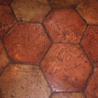 Antique Terra Cotta 8in Hex