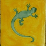 Lizard yellow-turquoise Jan 23, 2017