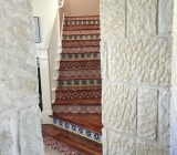 Talavera risers with solid Mesquite Treads Epic Flooring