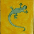 Lizard yellow-turquoise Jan 23, 2017