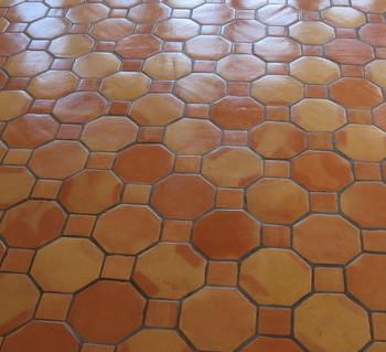 OCTAGONAL SALTILLO TILE CLEAR SEALED