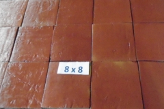 Antique Saltillo Red 8x8