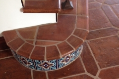Antique Terra Cotta curved Stairs