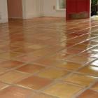Pressed (super) Saltillo Tile clear sealed
