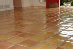 Pressed (super) Saltillo Tile clear sealed