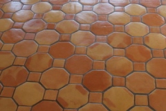 OCTAGONAL SALTILLO TILE CLEAR SEALED